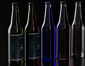 3D bar Glass beer bottle 1