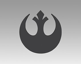 3D print model Rebel Alliance Galactic Empire symbol