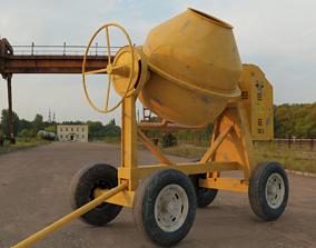 3D asset animated Concrete mixer