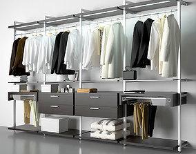 open wardrobe 3D model