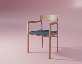 Post Chair upholstery 3D model