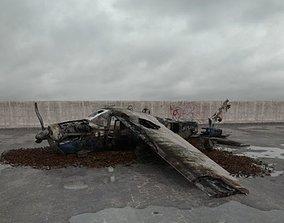 destroyed plane 018 am165 3D