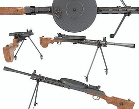 3D DP machinegun degtyareva