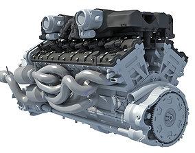 V12 Engine 3D speed