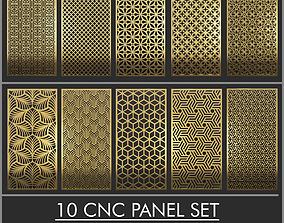 10 Set CNC Wall Partition 3d Panel