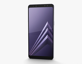 dual Samsung Galaxy A8 2018 Orchid Grey 3D model