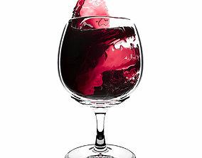 Splash Wineglass 2 3D model