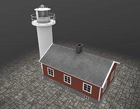 3D asset Light House Haken