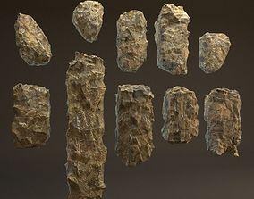 Rocks blocky pack 10 models 3D asset