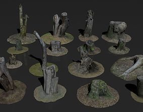 Photoscanned stumps pack 3D model
