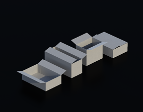 Cardboard Box 02 3D model