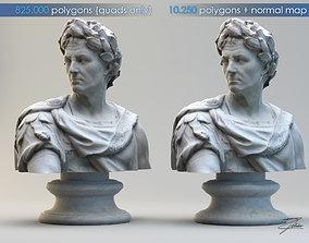 3D asset Caius Julius Caesar bust