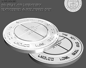 3D printable model saturn 5th Seal of Mercury