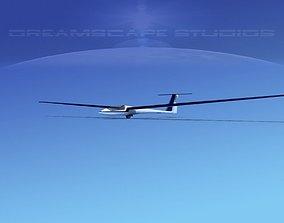 Schleicher ASW 22 Sailplane V06 3D model