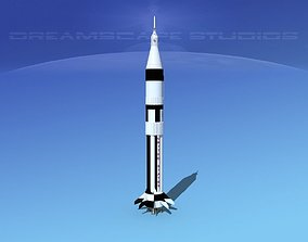Saturn 1B Launch System 3D model
