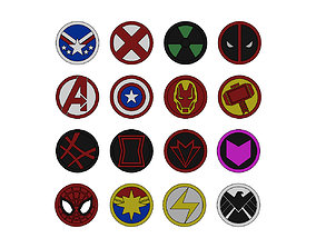 3D printable model Superhero logos and coins art