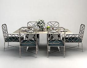 FOLD RECTANGLE DINING TABLE Baker 3D