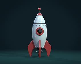 3D asset Cartoon Rocket PBR