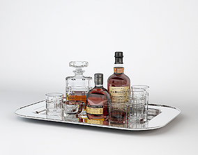 3D model Ralph Lauren Bottles Tray Service