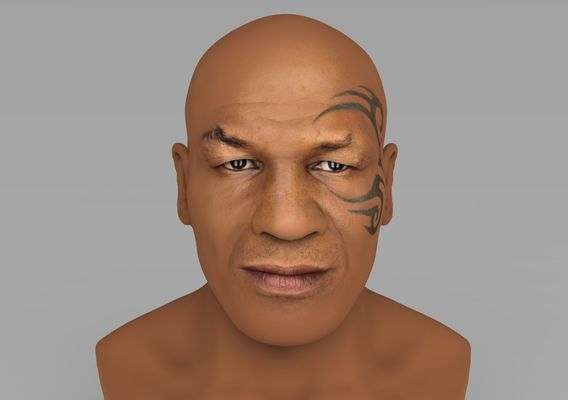 Mike Tyson bust for full color 3D printing