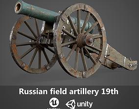 3D Russian field artillery 19th