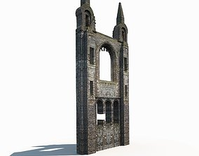 low-poly Castle Ruin - Tower Low poly 3d Model