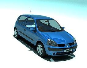 3D model Renault Clio II 2001 3 doors