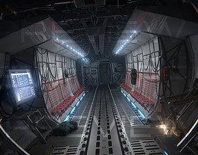 3D model animated Aircraft interior
