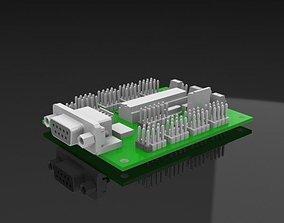 Srs232 Module for stepper motor 3D model