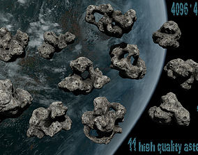 3D model asteroid set