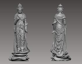 Kwanyin Bodhisattva sculpture 3D print model