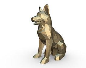 German shepherd figure 3D printable model sculpture