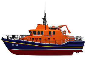 3D model Severn Class Lifeboat