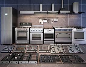 Set of kitchen appliences 3D