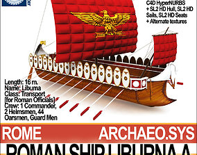 Roman Ship Liburna A 3D model