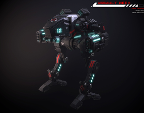 3D model Assault Mech Lowpoly