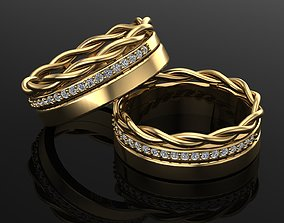 3D printable model gold helix ring