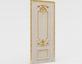 Classic Door 3D model VR / AR ready