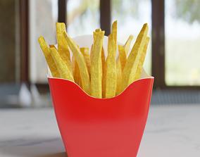 3D model VR / AR ready French Fries