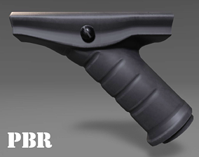 Angled Grip - Foregrip - Weapon Attachment - 3D asset 4
