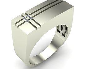 gold MAN RING 3D printable model