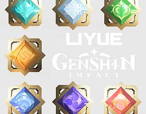 All pieces Liyue - Genshin Impact 3D printable model