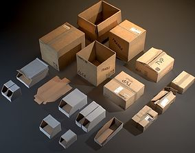 Cardboard Boxes - Game ready props 3D asset