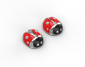 101112SE stud earrings ladybugs with 3D print model
