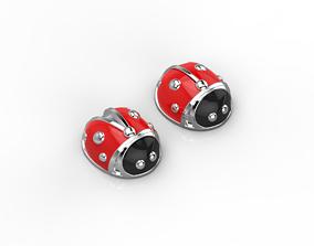 101112SE stud earrings ladybugs with 3D print model