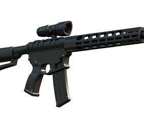 3D AR 15 Rifle