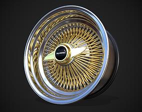 3D asset TruSpoke 100-Spoke Knock-Off reverse wire rim