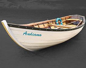 3D Boat wooden