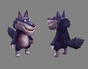 3D asset Cartoon big bad wolf