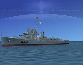 3D model UK Captains Class Frigate Capel